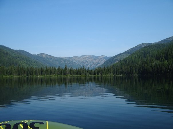 Upper Whitefish Lake from my raft