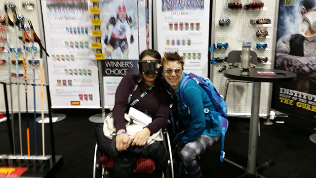 Jacqueline And Kim at Bliz Eyewear Sponsor Booth