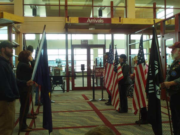 Airport With Patriot Guard