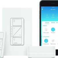 Caseta In Wall lamp dimmer kit with Smart Bridge